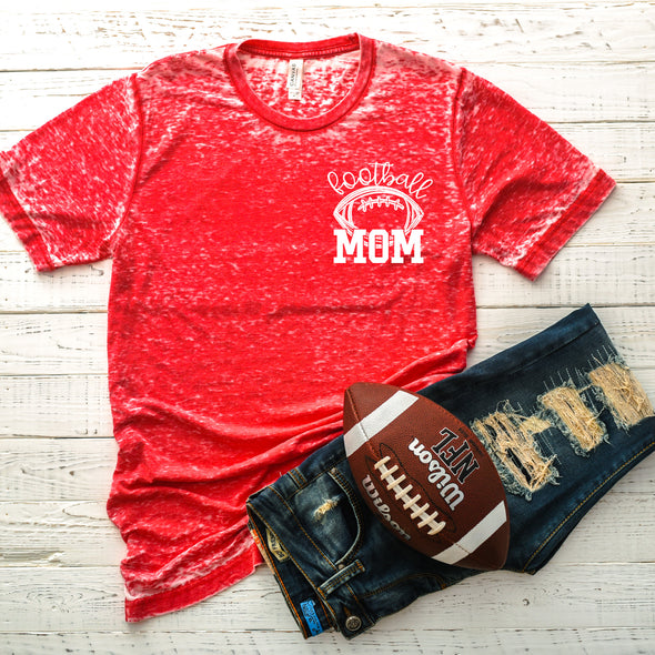 Football Mom Pocket Patch - Screen Print Transfer