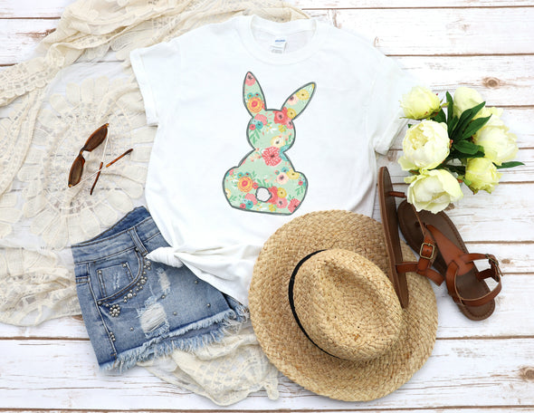 Floral Bunny - Sublimation Transfer