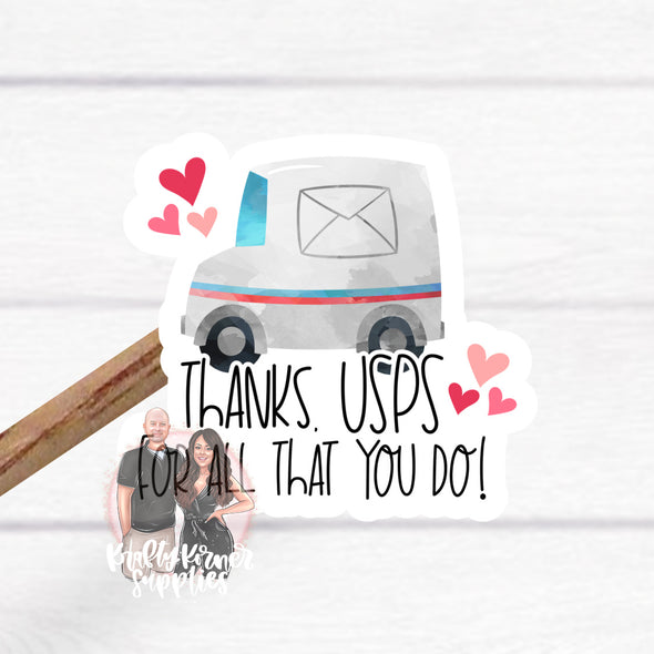S40 Thank you USPS Vinyl Stickers (25)  - Stickers