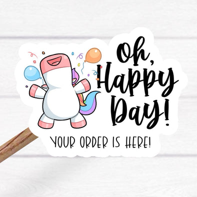 S5 Oh Happy Day Vinyl Stickers (25)  - Screen Print Transfer