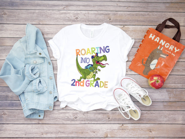 Roaring Into 2nd Grade - Sublimation Transfer