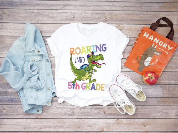 Roaring Into 5th Grade - Sublimation Transfer