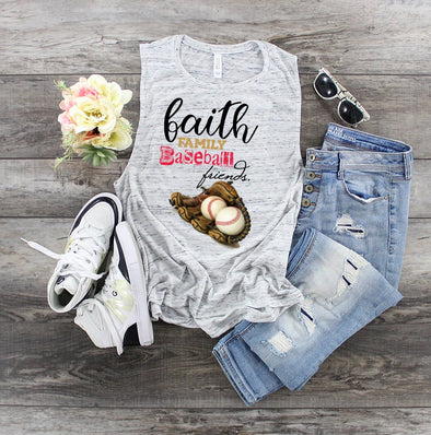Faith, Family, Baseball & Friends - Sublimation Transfer