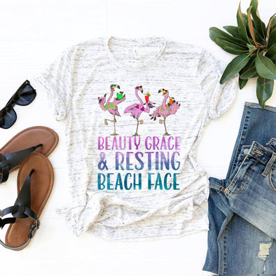 Beauty, Grace & Resting Beach Face - Sublimation Transfer