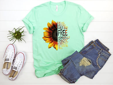 Sunflower She Was Life Itself - Sublimation Transfer