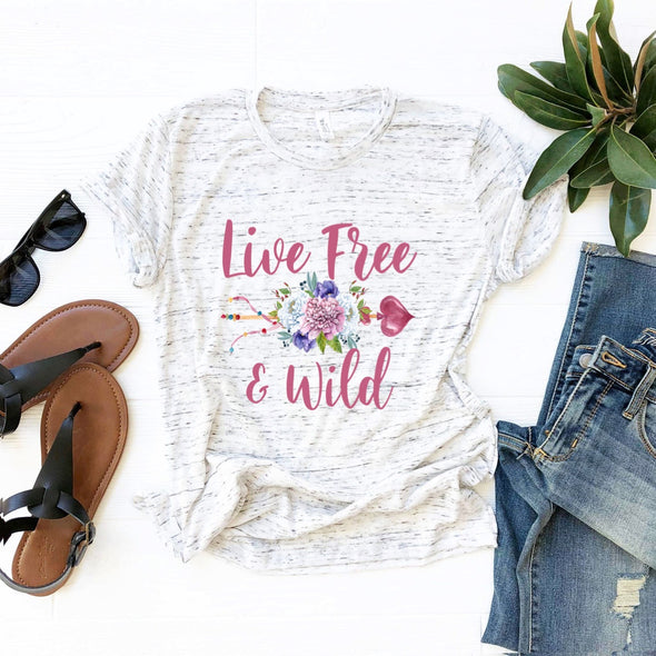 Live Free & Wild - Sublimation Transfer