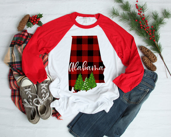 Buffalo Plaid Alabama - Sublimation Transfer
