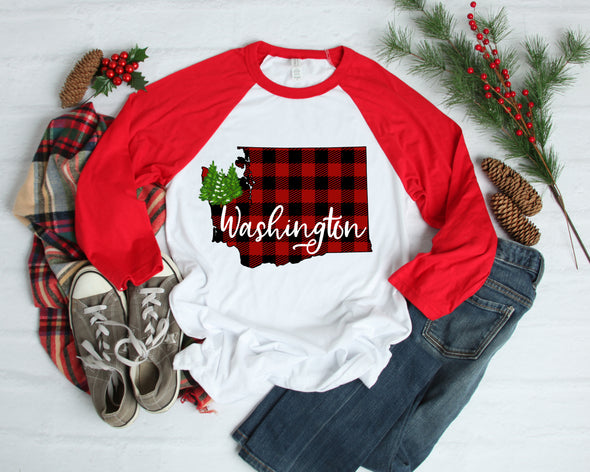 Buffalo Plaid Washington - Sublimation Transfer