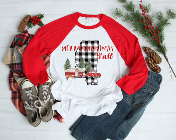 Merry Christmas Mississippi - Sublimation Transfer