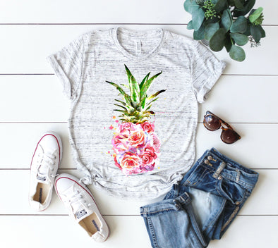 Watercolor Pineapple - Sublimation Transfer