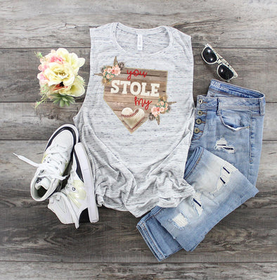 You Stole My Heart Baseball - Sublimation Transfer