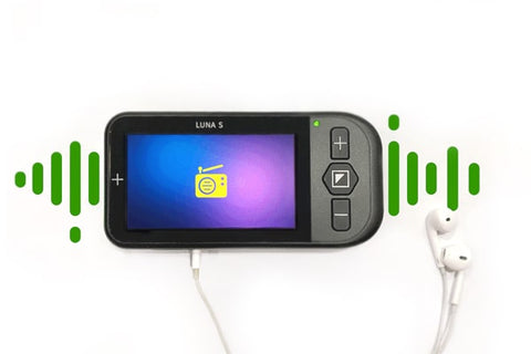 Image of Zoomax Luna S with FM Radio Feature and Headphones
