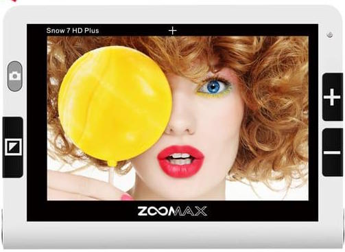 Zoomax Snow 7 HD Plus Electronic Magnifier (Text-to-Speech) - IN STOCK NOW