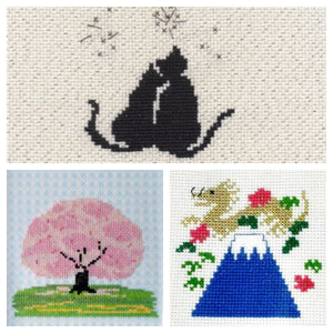 Cross Stitch Kits: Imported from Japan - Craft Kitsune