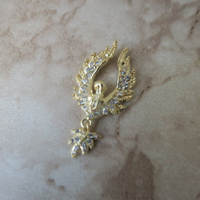 Nail Decoration / Pendant - Gold Phoenix - Craft Kitsune