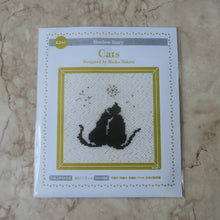 Load image into Gallery viewer, Cross Stitch Embroidery Kit: Cats - Craft Kitsune