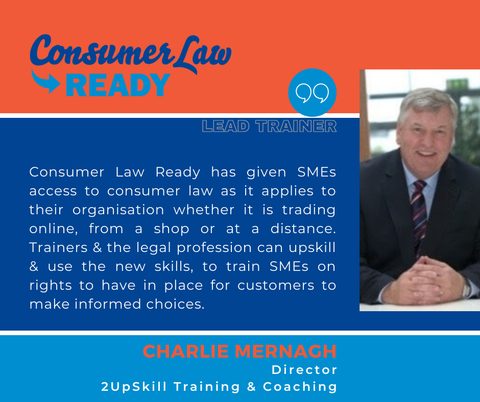 Consumer Law Ready Lead Trainer Ireland aswell as Management development specialist
