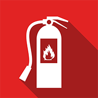 Fire Extinguisher - Online Course Learn how to identify the different types of fire extinguishers that might be installed within your workplace and what situations they might be used in. At the end of the final module you will be presented with a simulation that will test what you've learnt.