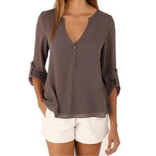 Load image into Gallery viewer, V Neck Plus Size Blouse