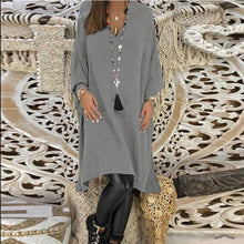 Load image into Gallery viewer, V Neck  Plain  Long Sleeve Casual Dresses