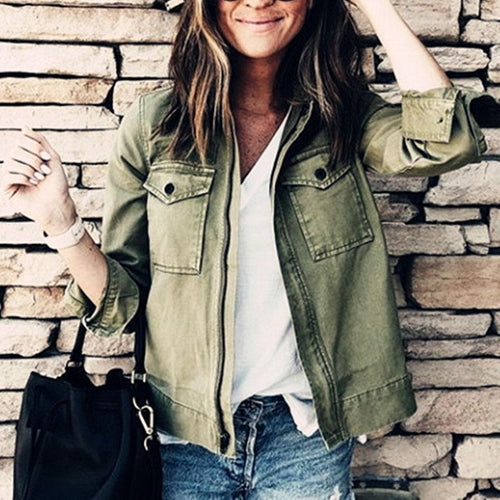 Casual Big Pocket Personality Versatile Jacket