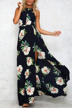 Load image into Gallery viewer, Bohemia Halter Slit Floral Maxi Dress