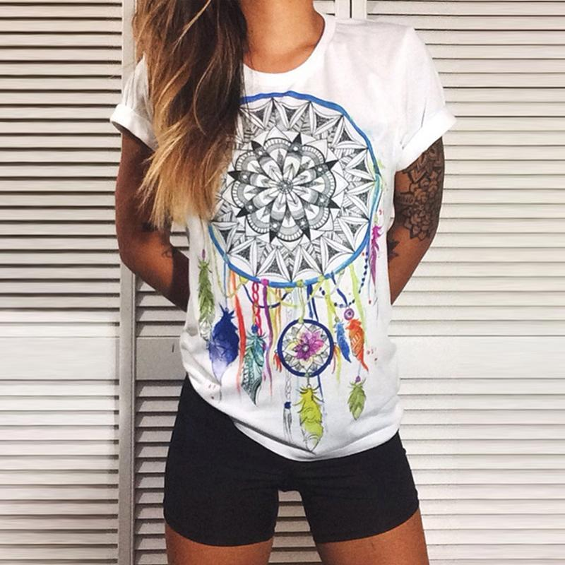 Round Neck  Tribal Printed T-Shirts