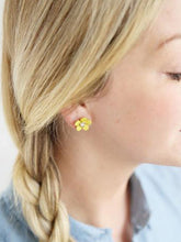 Load image into Gallery viewer, Yellow Floral Cute Earrings