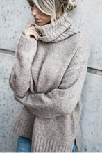 Load image into Gallery viewer, Turtle Neck  Plain Warm Sweaters