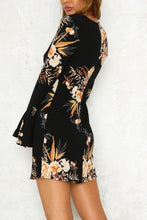 Load image into Gallery viewer, Round Neck  Floral Printed  Bell Sleeve Casual Dresses
