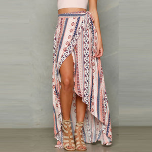 Bohemia Printed Split Beach Skirt