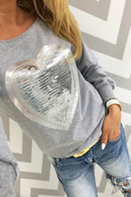 Load image into Gallery viewer, Round Neck  Glitter Heart T-Shirts