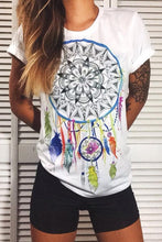 Load image into Gallery viewer, Round Neck  Tribal Printed T-Shirts