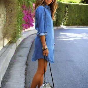 2018 New Style Denim T-Shirt Dress