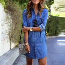 Load image into Gallery viewer, 2018 New Style Denim T-Shirt Dress