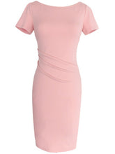 Load image into Gallery viewer, Round Neck  Plain Bodycon Dress
