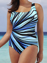 Load image into Gallery viewer, Abstract Print Plus Size Beachwear