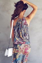 Load image into Gallery viewer, Halter  Printed  Sleeveless Maxi Dresses