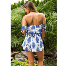 Load image into Gallery viewer, Bohemia Printing Tassel Strapless High-Waist Shorts Two-Piece Set