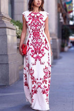Load image into Gallery viewer, Bohemia Floral Print Sleeveless Maxi Dress