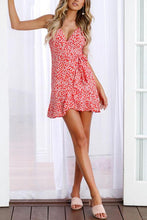 Load image into Gallery viewer, Spaghetti Strap  Asymmetric Hem  Floral  Sleeveless Casual Dresses