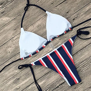 Sexy Stripe Two-Piece Bikini