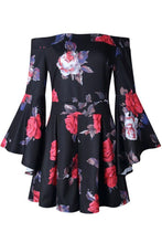 Load image into Gallery viewer, Off Shoulder  Floral Printed  Bell Sleeve  Half Sleeve  Playsuits