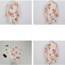 Load image into Gallery viewer, V-Neck Flower Print Shorts Jumpsuit