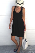 Load image into Gallery viewer, Round Neck  Plain  Sleeveless Casual Dresses