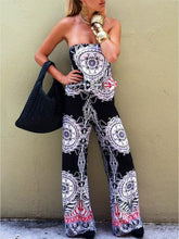 Load image into Gallery viewer, Pretty Floral Off Shoulder Long Jumpsuits