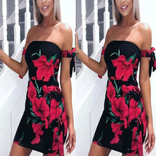 Load image into Gallery viewer, Bohemian Strapless Printing Vacation Dress