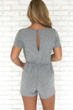 Load image into Gallery viewer, Surplice  Plain  Short Sleeve  Playsuits