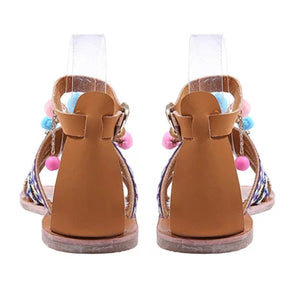 Bohemian Multicolor Buckle Sandals Woman Shoes