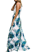 Load image into Gallery viewer, Spaghetti Strap  Printed  Sleeveless Maxi Dresses